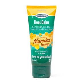 Dermatonics Manuka Honey Heel Balm contains 25% urea and new zealand manuka honey