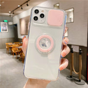 Clear Armor Ring Holder Case For iPhone