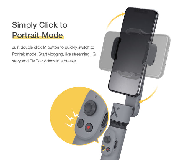 Zentrix Smooth X Portable Mini Gimbal