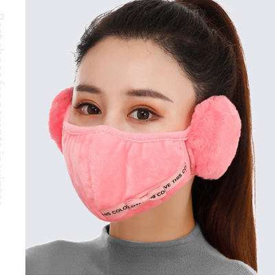 Warm Velvet Earmuffs Face Cover