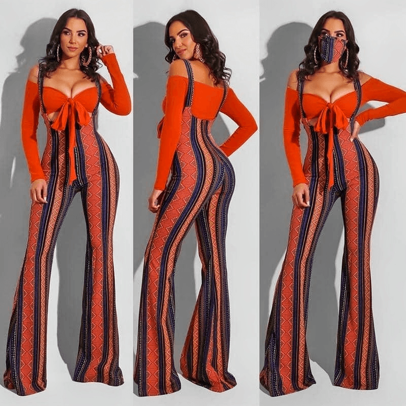 Ladies Two-Piece Bodycon Jumpsuit