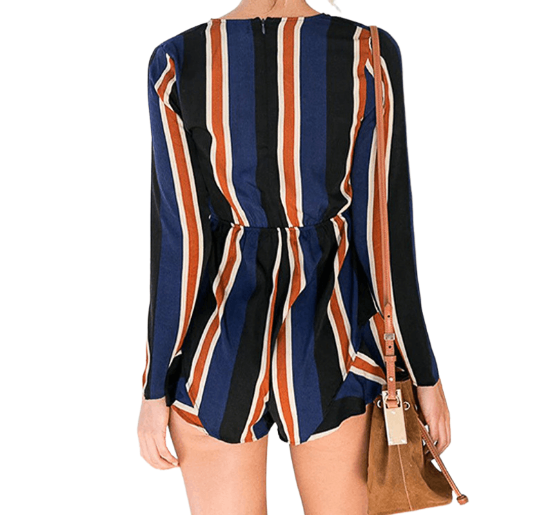 Ladies Deep V Casual Short Jumpsuit - Beauty and Trends