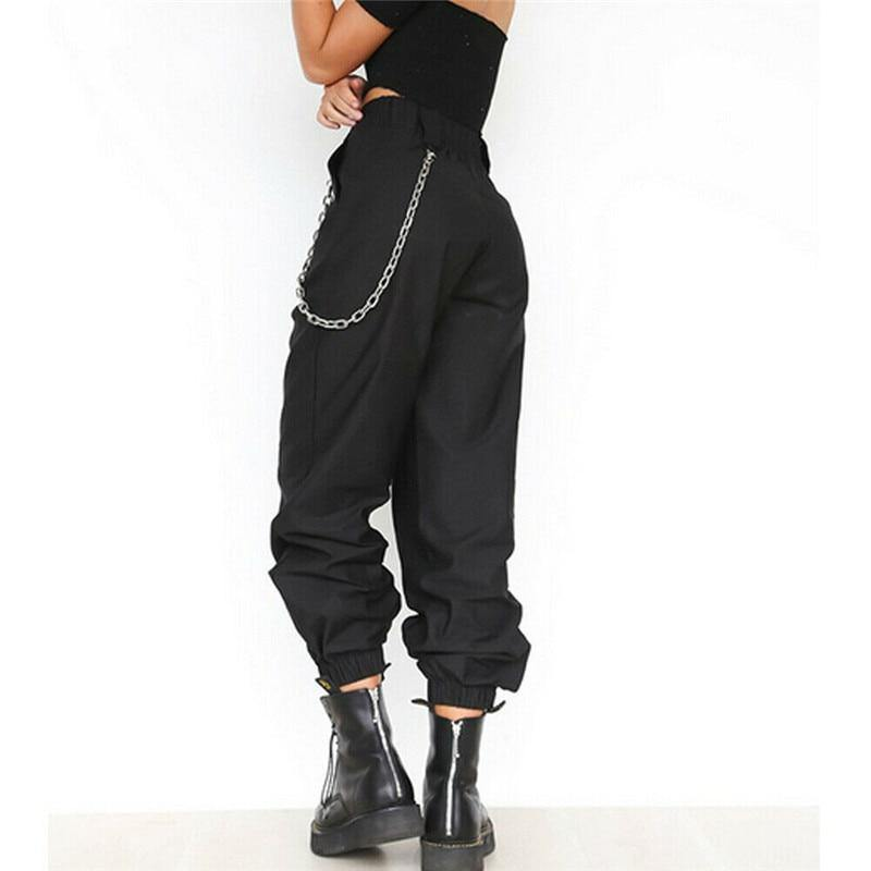 Ladies High Waist Cargo Pants - Beauty and Trends