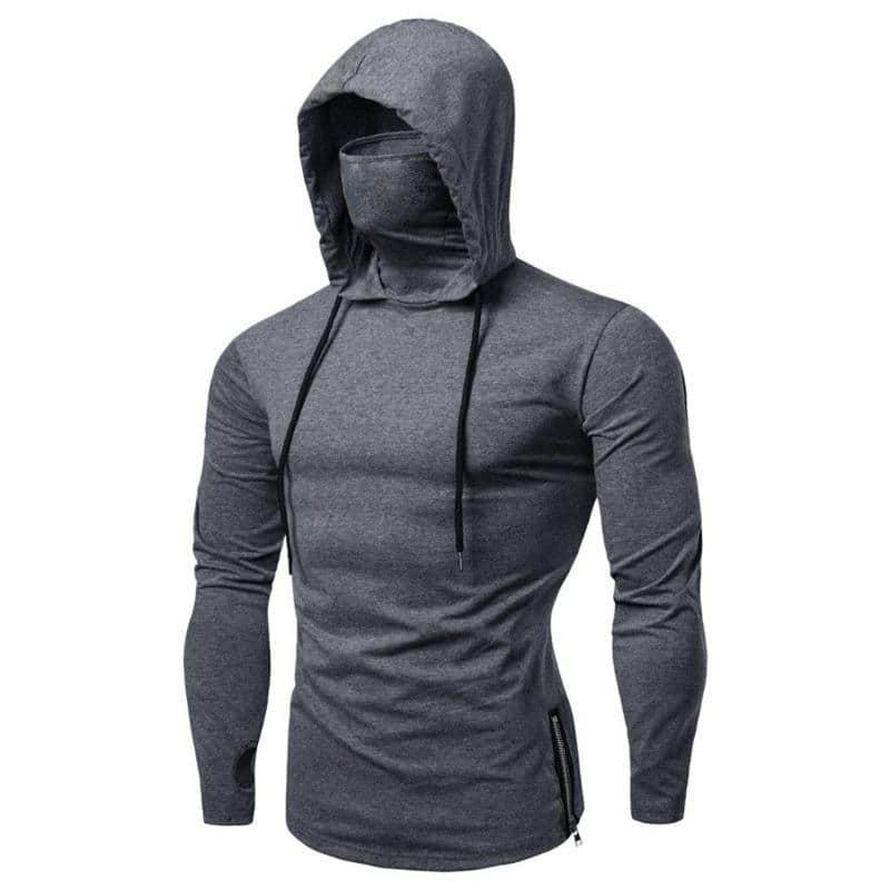 Men's Mask Hooded Sweater