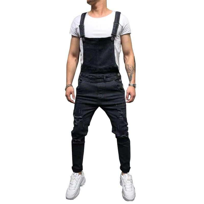 Men's Jumpsuit | Men's Ripped Jeans Jumpsuits