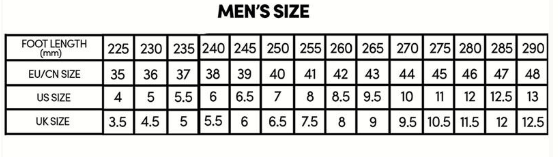 Men Suede PU Leather Safe Shoes  Size Chart - Beauty and Trends
