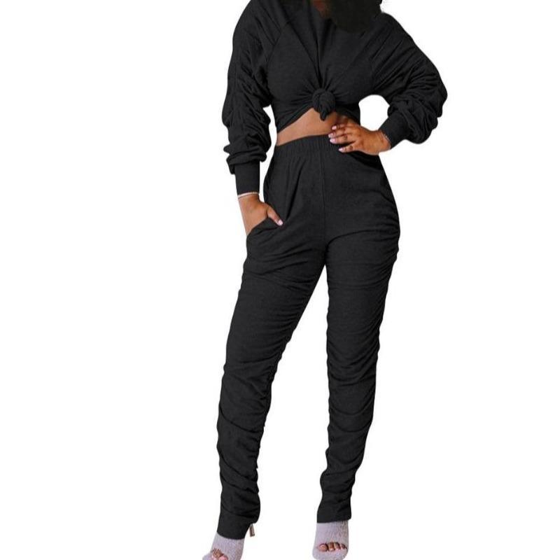 Women's 2 Piece Bun Top Pants Suit | Beauty and Trends