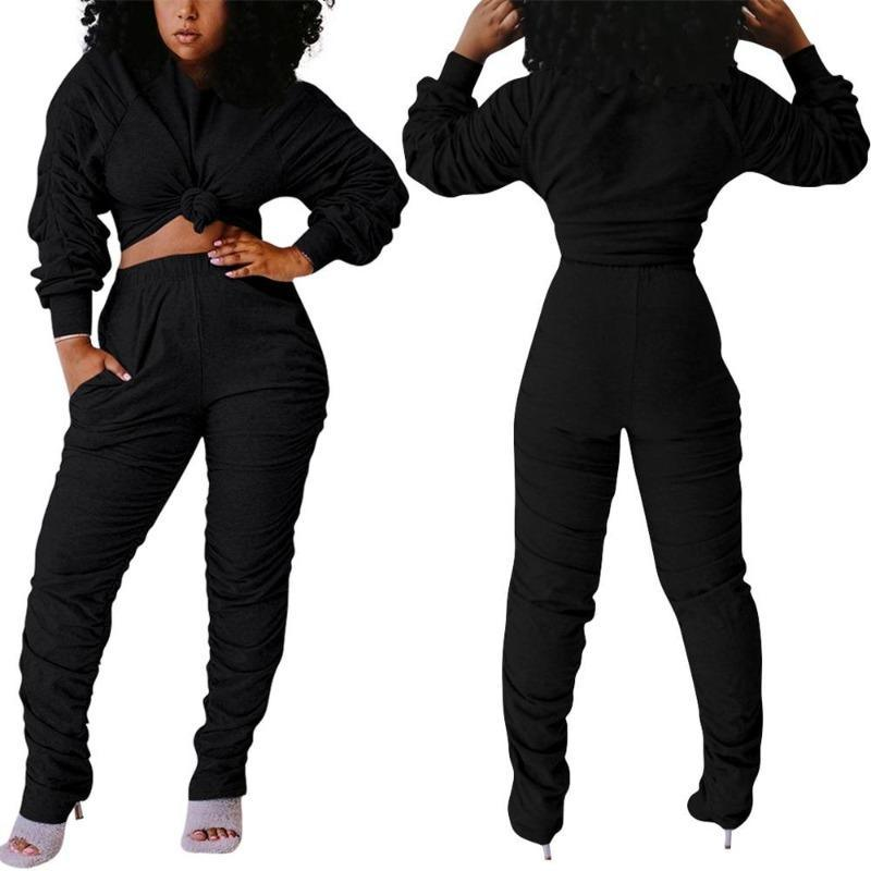 Women's 2 Piece Bun Top Pants Suit - Beauty and Trends
