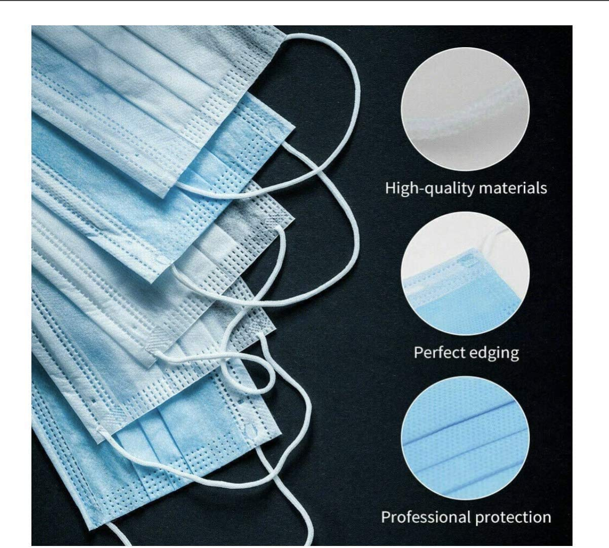 shopify-Pack of 20 Disposable Face Masks - Breathable General Use Face Mask-5