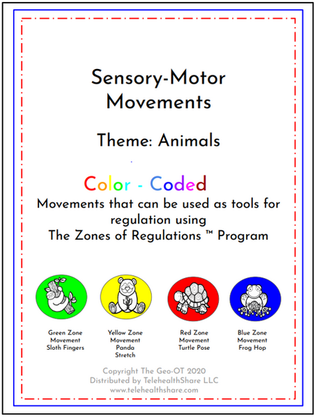 Sensory-Motor Movement Packet with Color and Cut Pages