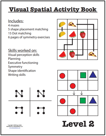 Visual Spatial Activity Book – Level 2