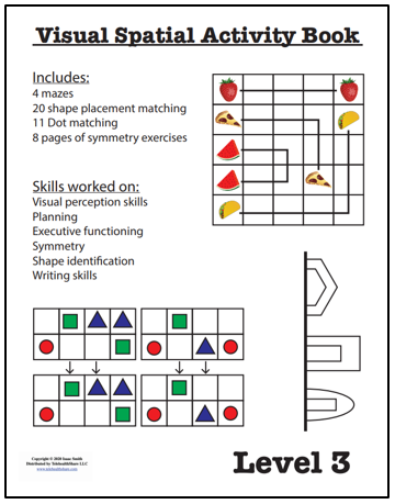 Visual Spatial Activity Book – Level 3