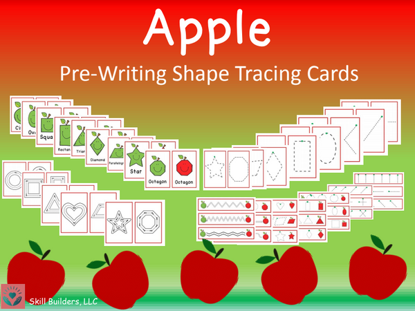 Apple Theme Pre-Writing and Tracing