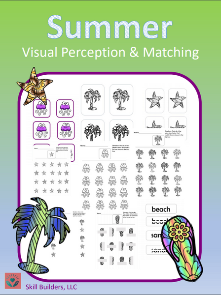 Summer Visual Scanning and Perception Pack