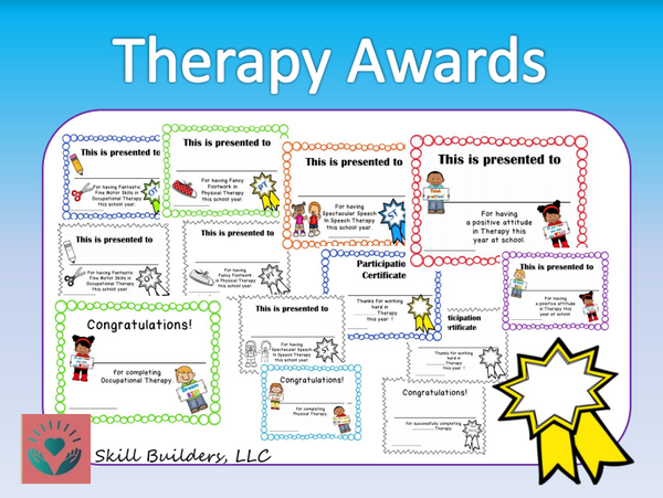 Therapy Awards and Certificates