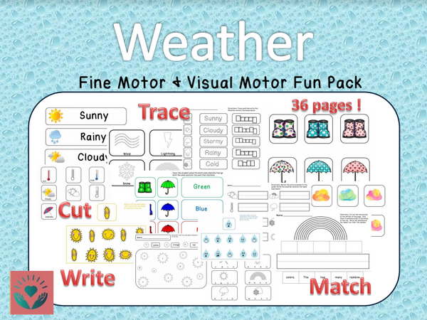 Weather Themed Handwriting and Fine Motor Fun Pack