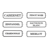 Enamel Wine Signs (Set of 6)