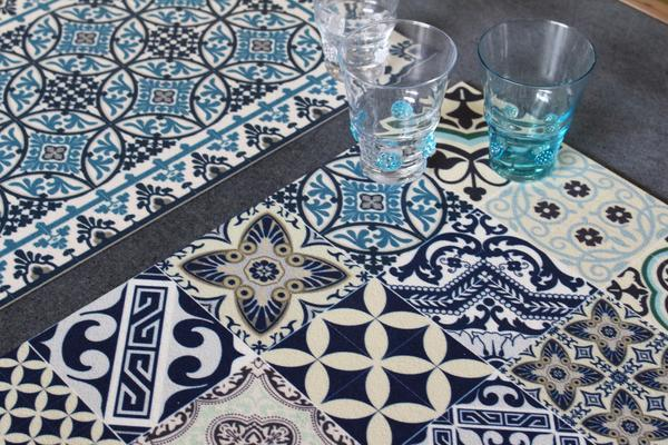 "Beija Flor Blue Eclectic Placemat (13"" x 20"") Set of 2 - Le Marché Pop Up"