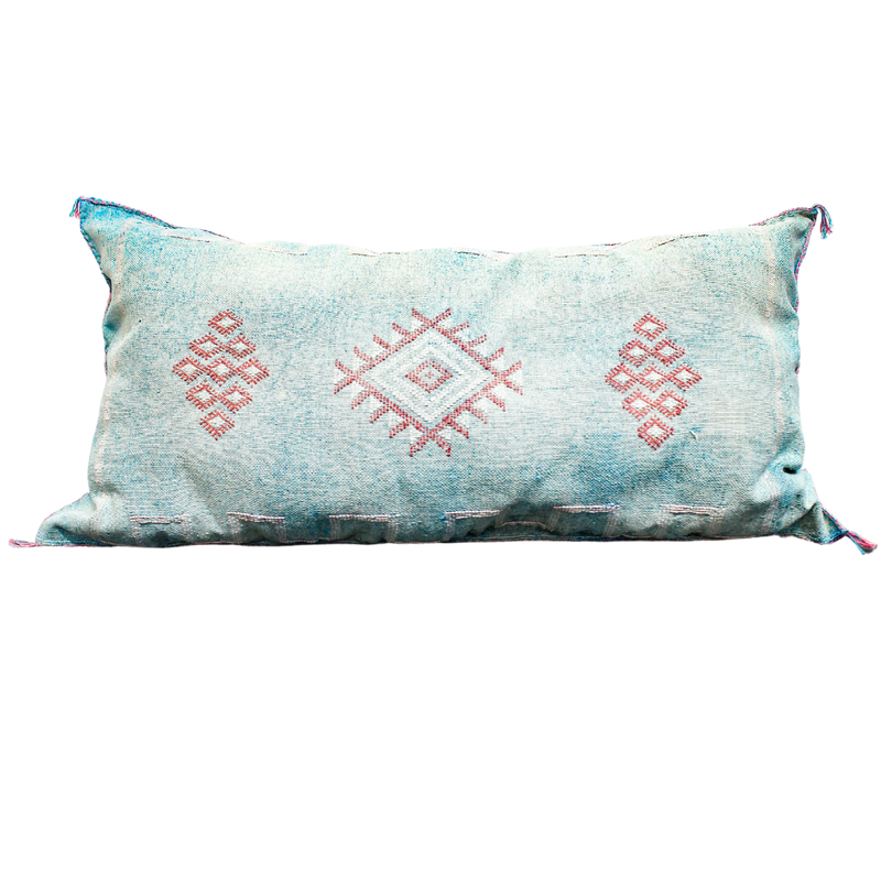 Berber Rectangular Pillow Turquoise