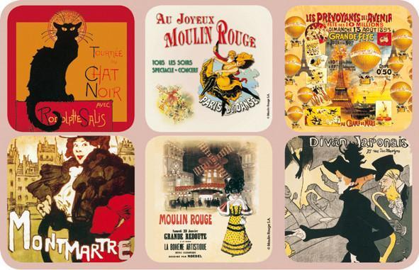 Le Chat Noir Coasters - Le Marché Pop Up