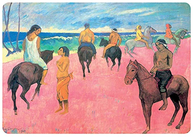 Gauguin Riders on The Beach Placemat (Set of 2) - Le Marché Pop Up
