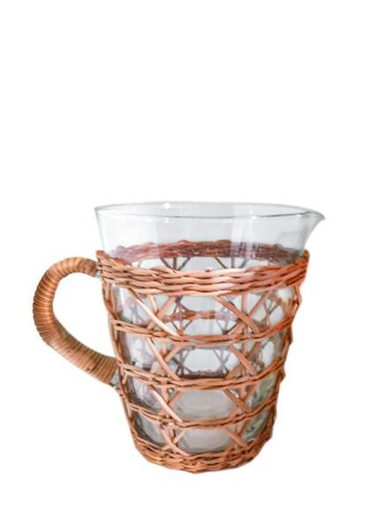 Rattan Cage Tall Pitcher - Le Marché Pop Up