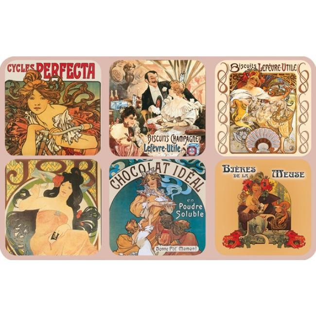Mucha Coasters - Le Marché Pop Up