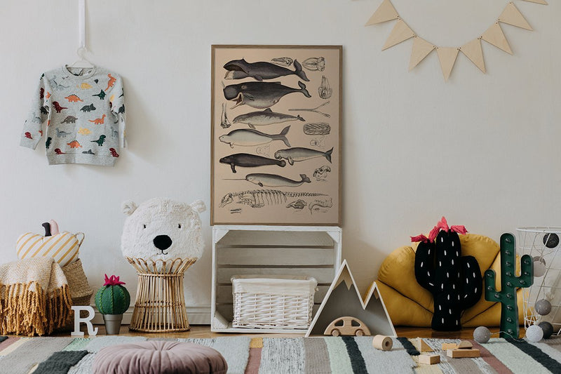 Dybdahl Animalia Poster - Whales - Le Marché Pop Up