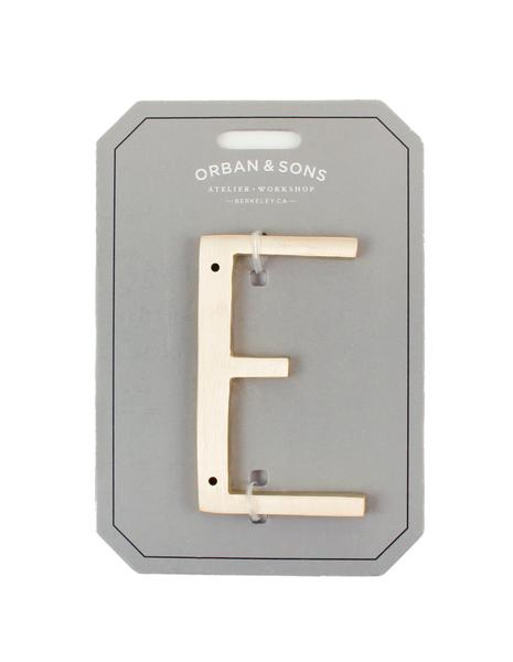 "Orban & Sons Brass Letter ""E"" - Le Marché Pop Up"