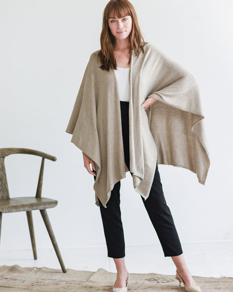The Charleston Wrap in Mink - Le Marché Pop Up