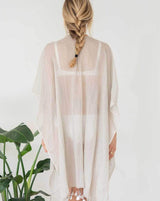 The Cotton Tassel Wrap - Taupe