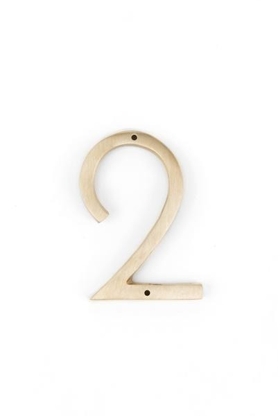 "Orban & Sons Brass Number ""2"" - Le Marché Pop Up"