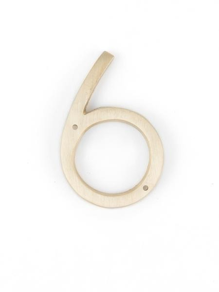 "Orban & Sons Brass Number ""6"" - Le Marché Pop Up"