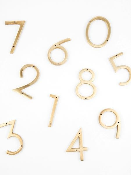 "Orban & Sons Brass Number ""4"" - Le Marché Pop Up"