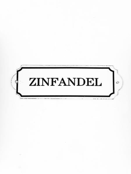 "Orban & Sons Enamel ""Zinfandel"" Sign - Le Marché Pop Up"