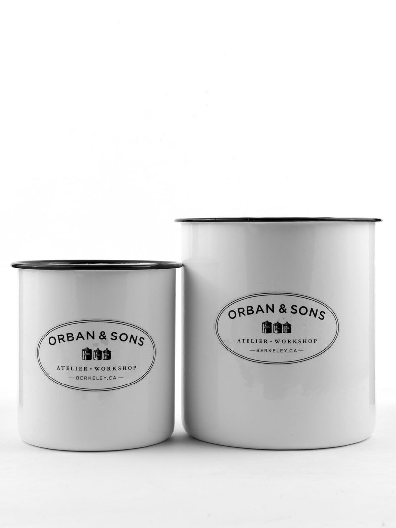 Orban & Sons Enamel Utensils Crock (With Text)