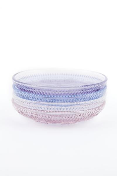 Dentelle Duchesse Blue Glass Plate (Set of 4) - Le Marché Pop Up