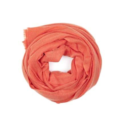 Orange Wool Blend Scarf - Le Marché Pop Up