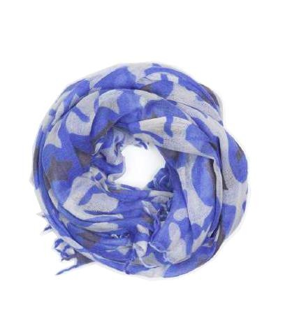 Cobalt with Black & Ivory Scarf - Le Marché Pop Up