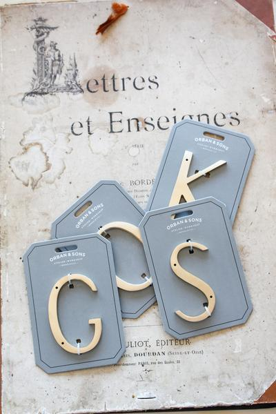 "Orban & Sons Brass Letter ""K"" - Le Marché Pop Up"