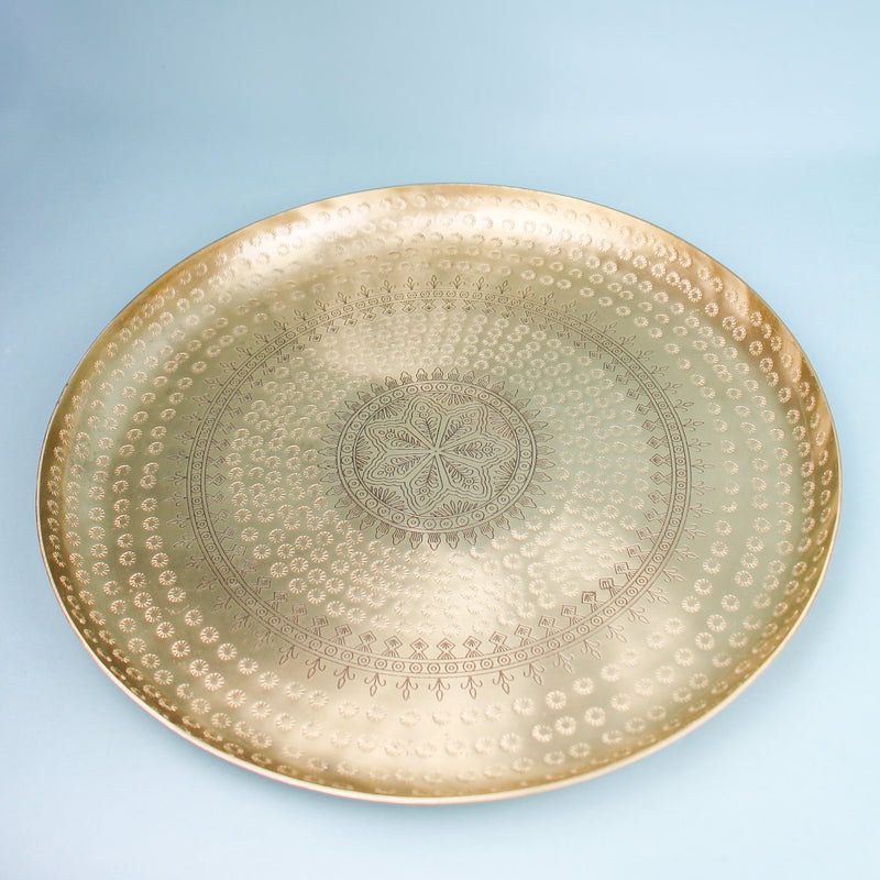 Small Moroccan Tray Gold - Le Marché Pop Up