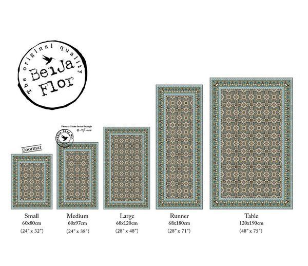 Beija Flor Green Bella Floor Mat - Le Marché Pop Up