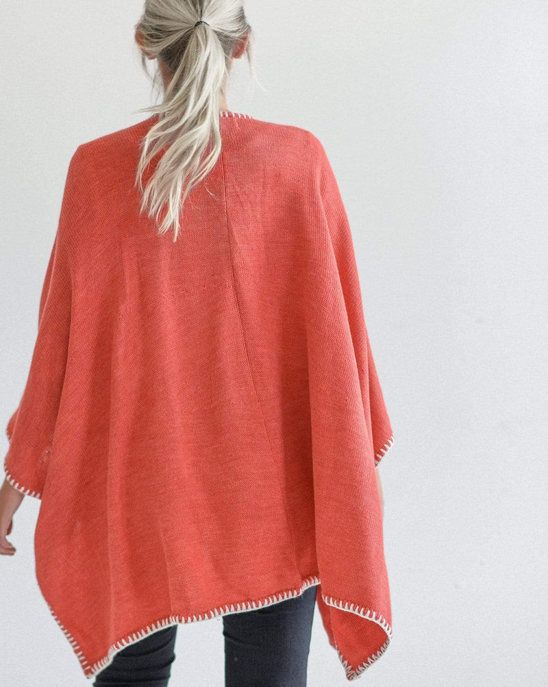 The Seville Whipstitch Wrap - Orange