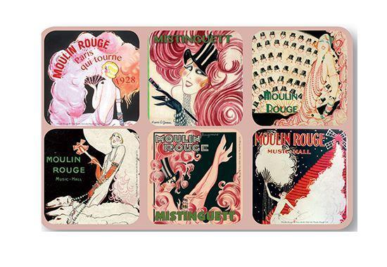 Mistinguett Moulin Rouge Coaster Set - Le Marché Pop Up