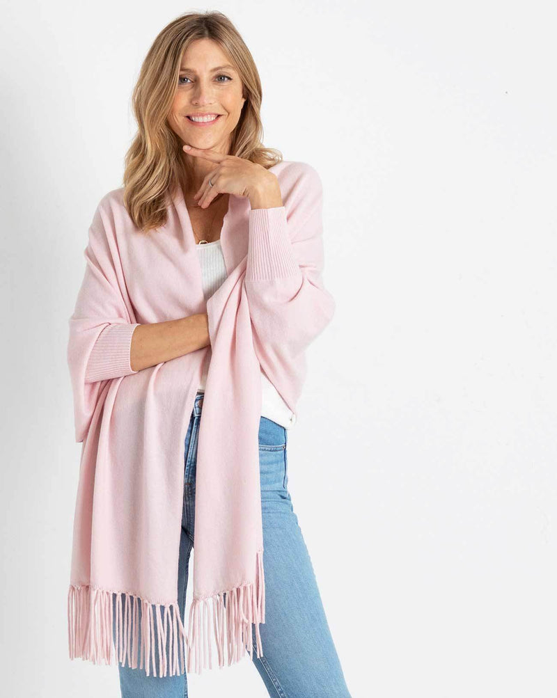 The Cashmere Sleeved Wrap - Bliss - Le Marché Pop Up