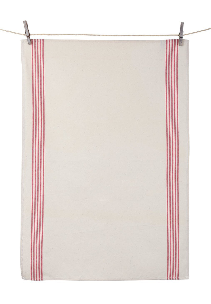 Tissage de L'Ouest Renzo Dish Towels Red (Set of 2)