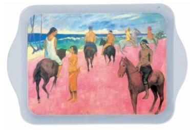 Gauguin Riders on the Beach Mini Metal Tray - Le Marché Pop Up