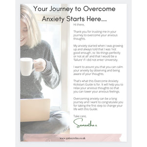 Overcome anxiety kickstart guide GALAXY REALX