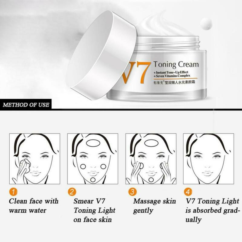 BIOAQUA V7 Toning Cream for Instant Tone Up & Whitening Effect