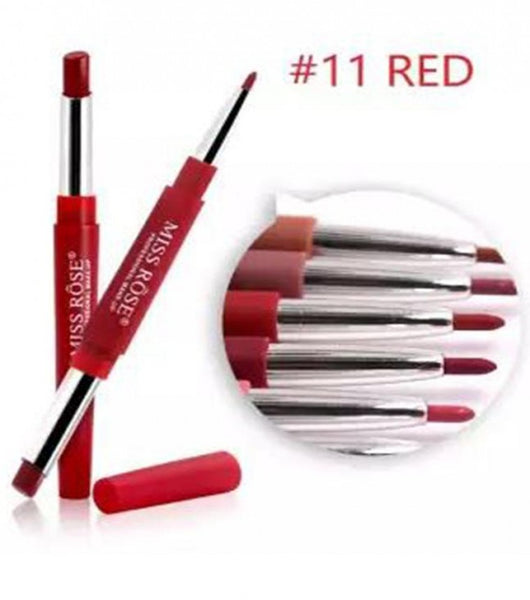 Miss Rose 2 in 1 Lipstick Red Collection